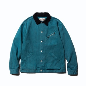Color denim hunting jacket