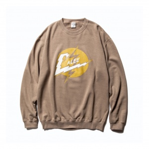 Lightning logo crew neck sweat shirt