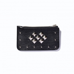 Leather studs coin case