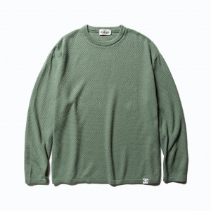Crew neck cotton knit sweater