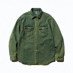 Used L/S color denim shirt
