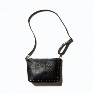 Leather studs body bag
