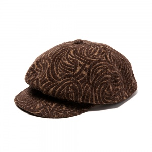 Allover spiral pattern casquette