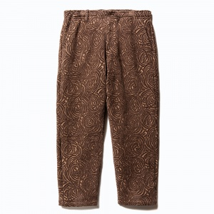 Allover spiral pattern pants