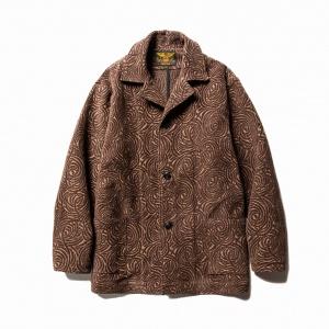 Allover spiral pattern jacket