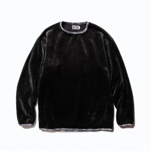 Fake fur pullover shirt