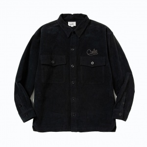 Fake suede cpo shirt jacket