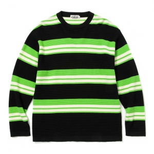 L/S Border knit sweater