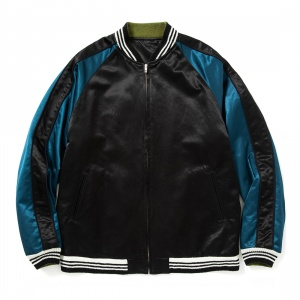 Reversible satin souvenir jacket