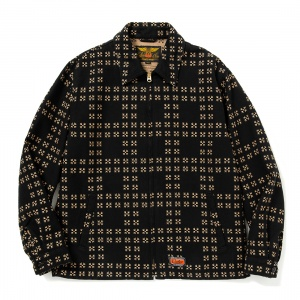 Traditional Japanese pattern sports type jacket