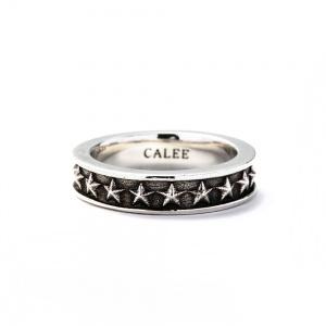 Star narrow silver ring