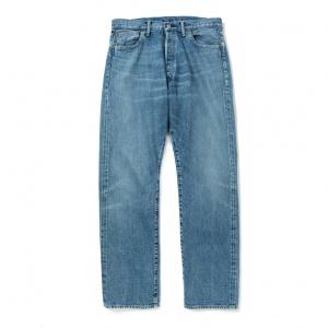 Vintage reproduct straight used denim pants
