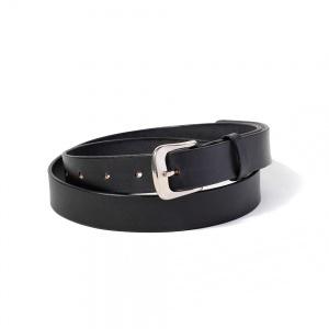 Plane leather narrow belt