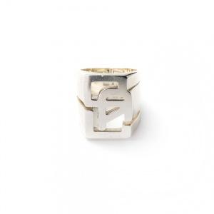 CAL logo silver ring