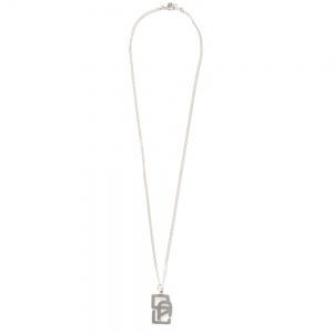 CAL logo head silver necklace