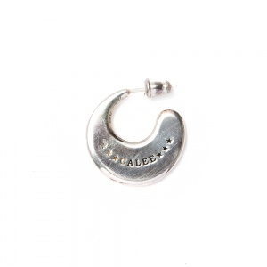Crescent silver pierce