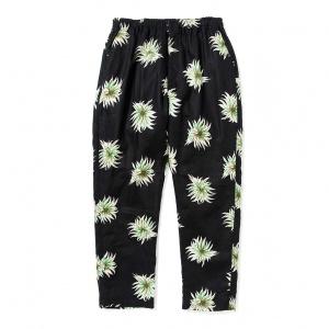Allover flower pattern linen tapered pants