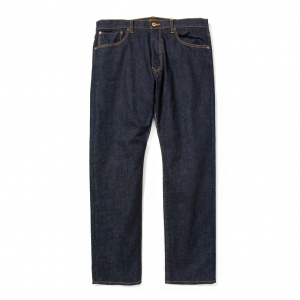 Five pocket tapered slim stretch denim  pants