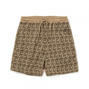 Allover monogram pattern short pants
