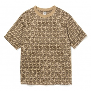 Allover monogram pattern drop shoulder t-shirt