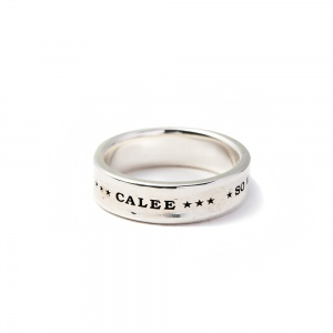 Round plane silver ring
