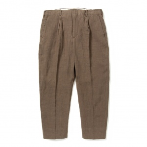 Linen cropped slacks