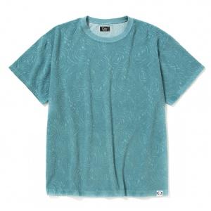 Spiral pattern pile jacquard t-shirt