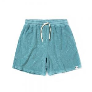 Spiral pattern pile jacquard short pants