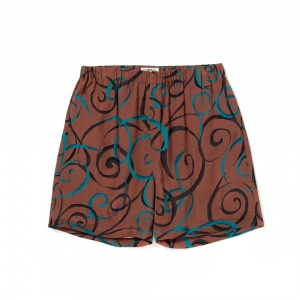 Allover spiral pattern short pants