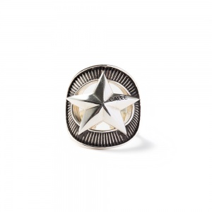 Silver star concho ring
