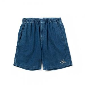 Used denim painter short pants