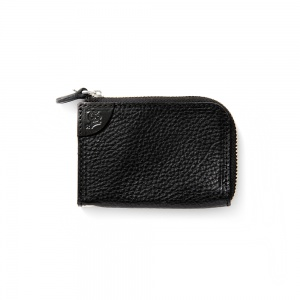 Logo embossing leather zip multi case