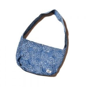 Rose pattern Jacquard denim newspaper bag