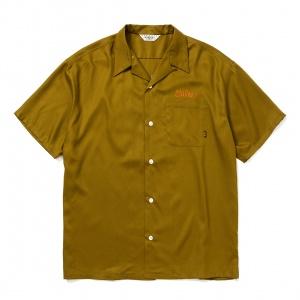 Embroidery S/S rayon shirt