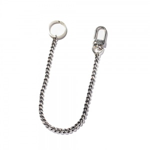 Padlock silver wallet chain