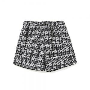Allover monogram pattern short pants