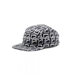Allover monogram pattern jet cap