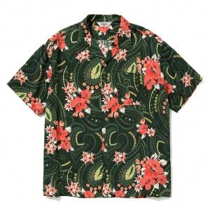Paisley pattern aloha S/S shirt
