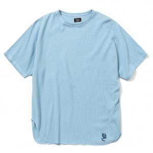 Pique jacquard 40s binder neck t-shirt