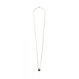 Narrow chain charm necklace
