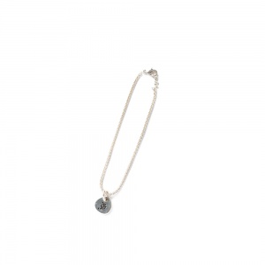 Narrow chain charm bracelet