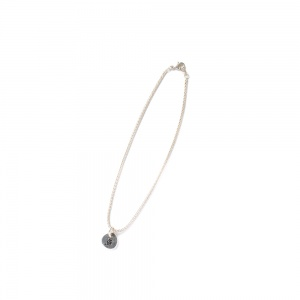 Narrow chain charm anklet