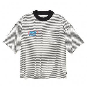 × SHELTECH Drop shoulder border t-shirt