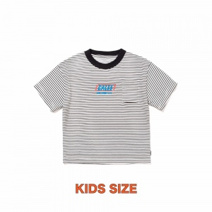 × SHELTECH Drop shoulder kids border t-shirt