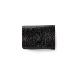 CAL Logo embossing leather mini wallet