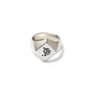 CAL Logo diamond cut pinky ring