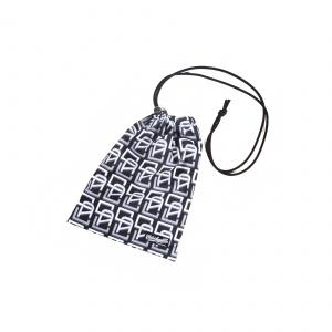 Allover monogram pattern drawstring bag