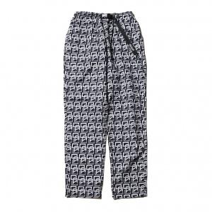 Allover monogram pattern easy pants