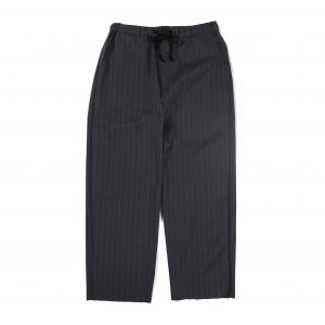 Seersucker stripe cutoff relax pants