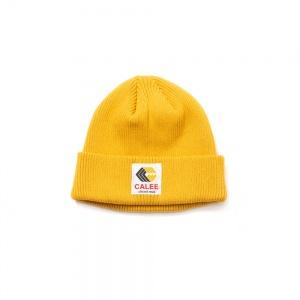 Cotton logo knit cap